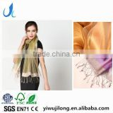 2017 Latest Fashion Organza scarves two layer silk scarf best selling for ladies silk scarf hijab caps