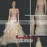 EB718 New design crystal bodice dense beading Wedding dress two pieces evening dress