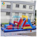 Hot sale kids outdoor game Inflatable slide Inflatable Obstacle Course