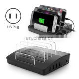 US Plug 4 Ports USB HUB multi phone charging station with bluetooth speaker for iPhone Samsung Table LG HTC PC