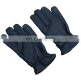 HMB-2030A LEATHER GLOVES PLAIN THINSULATED STYLE BLACK