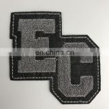 Wholesale Custom 100% Embroidery Chenille Patches For Clothing,towel embroidered patch in letter and number