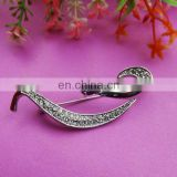 100%QC Bailange Wholesale bridal brooch black zipper tape flower brooch