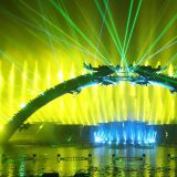 Big Water Show Show Dancing Music Fountain show w ith LAser and Fire Show effects of Media