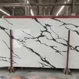 Artificial calacatta quartz stone slab