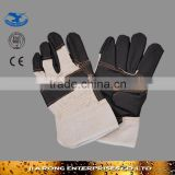 "10.5"" mens black tight leather gloves made in china LG025"