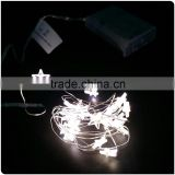 battery operated warm white copper wire with little stars mini led christmas lights