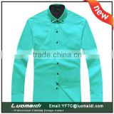 Hot sale production slim fit cotton man shirt/us size man shirt/wholesale china cheap shirt