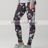 new tight yoga pants/colorful sublimation yoga capri/women fitness legging