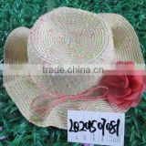Adults Age Group and 100% Polyester Material flower Straw Hat