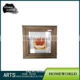 Delicate artificial square mini wooden picture frame for coffee bar display