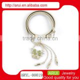china belly chain design for lady fashion silver waist chain with green crystals