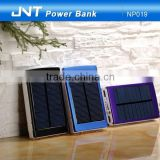 JNT Fashionable solar power bank newest 10000mah solar power bank,portable fashionable power bank