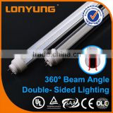 T10 double-side Clear or Milky LED reflector tube light lamp shade Plastic Extrusion T8 led tube light casing