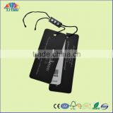 wholesales print black clothing tag for brand clothing tag or garment tag