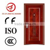 New Model Wooden color economical steel main door in 2016