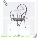 LC-77447 Modern garden wrought iron metal wire chair with arm