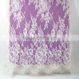 Wholesale new design white eyelash lace fabric for lady wedding dress                                                                         Quality Choice