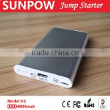 Sunpow High Standard Car Accessories lithium polymer battery jump starter thin Booster,8000mAh Jump Starter