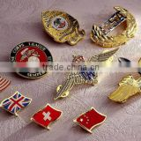 Copper sand bottom metal badge badges business Alice