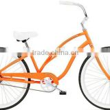 26 inch women's single speed bicycles 26 inch hi-ten steel frame beach cruiser bicycle for lady