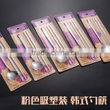 Stainless Steel Korean Spoon and Chopsticks Set with PVC packing and nice design