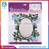 Solid quality Eco-friendly wall mirror sticker for decoration