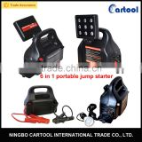 6 in 1 power inverter LED light DC 12 socket USB multi-function car battery jump starter