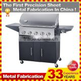 32 Inch 5-Burner Built-In Natural Gas Grill With Rear Infrared Burner And Grill Cart                                                                         Quality Choice