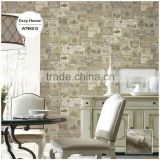 customizable printing plastic wallpaper, traditional special design wallcovering for hotel , anti-static wall sticker store