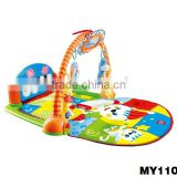 Hot Sale Kick&Play Piano Gym Foldable baby floor play mat piano keyboard play mat Play piano Gym