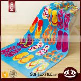pure cotton plain dyed lovely slipper printed beach towel