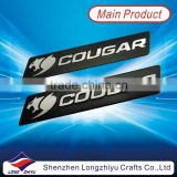 Aluminium brushed metal home appliance nameplate,Shiny silver high light brushed logo embossed label emblem