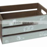 164JC109-2 High quality Classic wooden tray box for home decors, food and serving with the best price