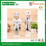 2pcs/lot 38cm height jumbo Christmas snowman Nutcracker wooden doll toys decoration craft gift