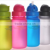 china supplier kid baby customized logo drinking water bottle with rubber straw and handle