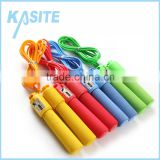 2.7m*5mm PVC fitness counting jump rope, PP handle with single color foam