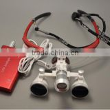 2.5X & 3.5X Magnification dentist loupes/Binocular surgical Loupes with Led headlight