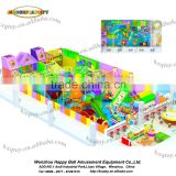 2016 Newest indoor playground type kids indoor soft play equipment amusement park with rainbow netting
