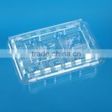 Transparent Disposable Plastic Cake and biscuit packing box with dividers