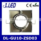 Square shape high quality zinc die-casting body recessed gu10 bulb downlight