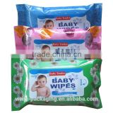 baby wipes packaging bag/wet tissue plastic bag/napkin plastic bag