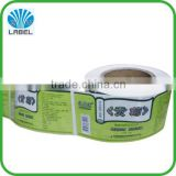 Printing Waterproof Self Adhesive Brand Name Transparent Size Labels for Clothing Vinyl Sticker