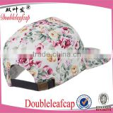 2015 Popular Wholesale Cap Hats Custom Hat Baseball Caps Manufacturer 6 Panel Floral Printing Cap