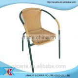 french metal bistro rattan chair