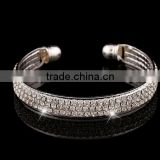 Fashion Women Girl Crystal Rhinestone Charm Bracelet Open Cuff Bangle