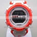 new model custom logo lcd plastic sport watch with japan battery