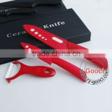 "6""+ 4"" White Ceramic Knife + a Peeler Set 3pcs 4 inch Fruit 6 inch Chef Ceramic knife Set"