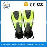 Colorful swimming diving scuba fins