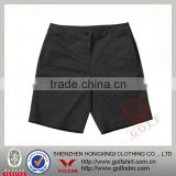 Solid Black Color Slim-fit Golf Shorts For Men Dri Fit Fiber